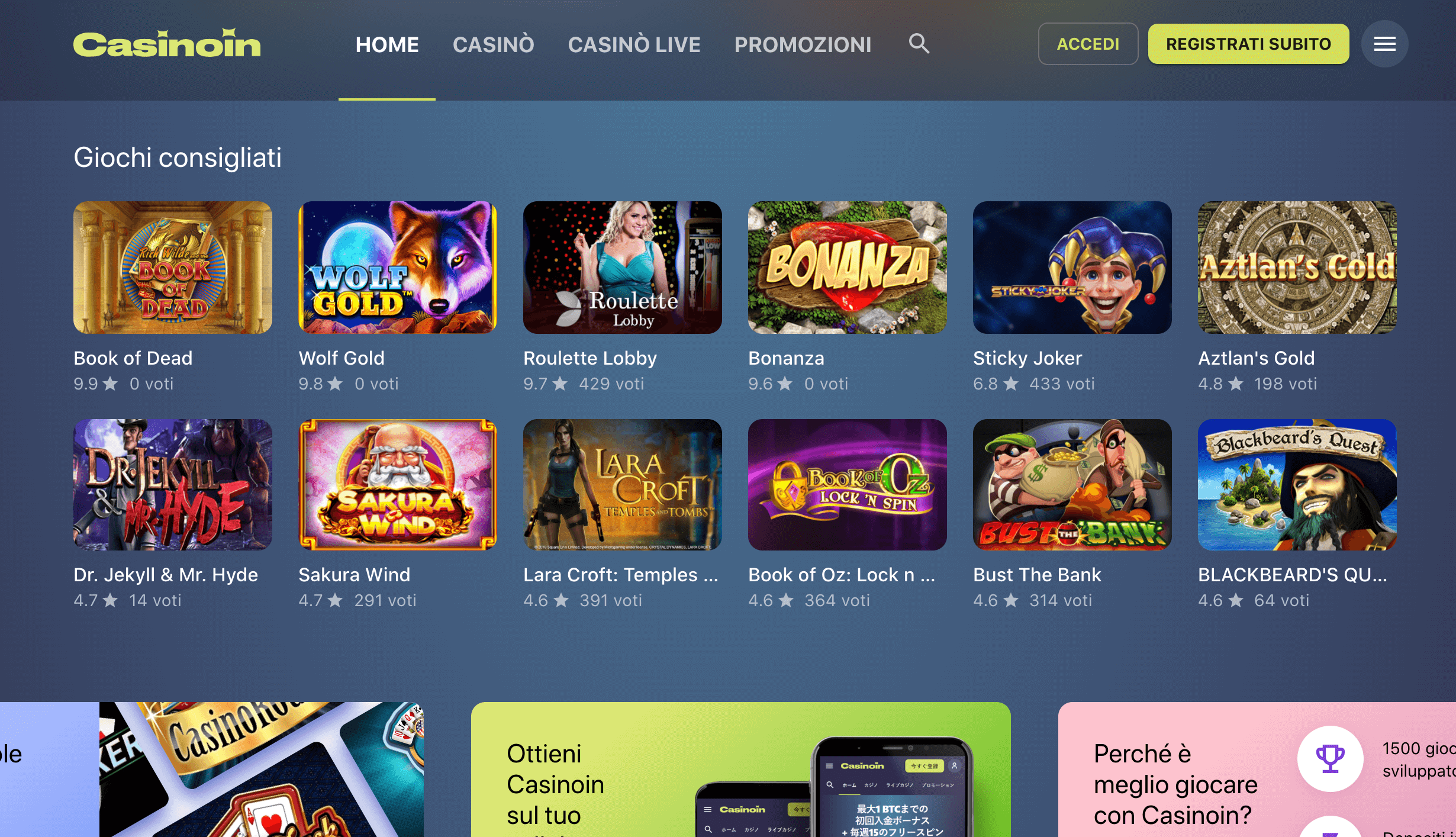 CasinoIn Homepage