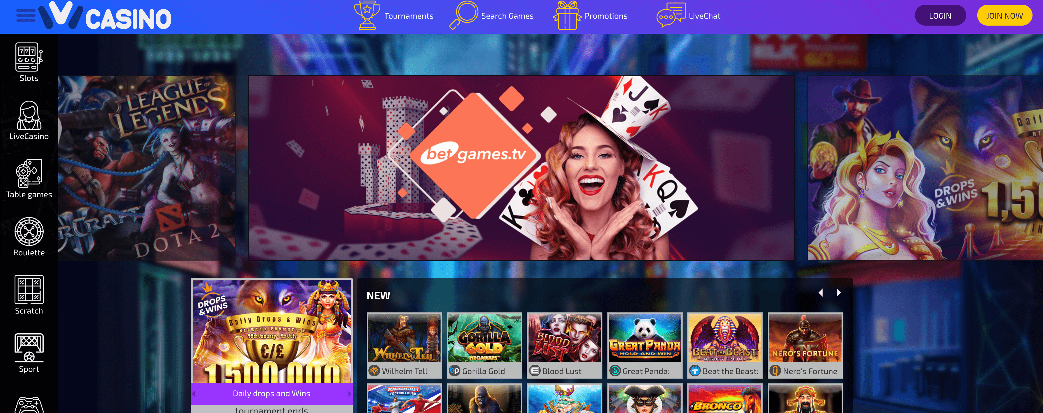 Ivi Casino Homepage