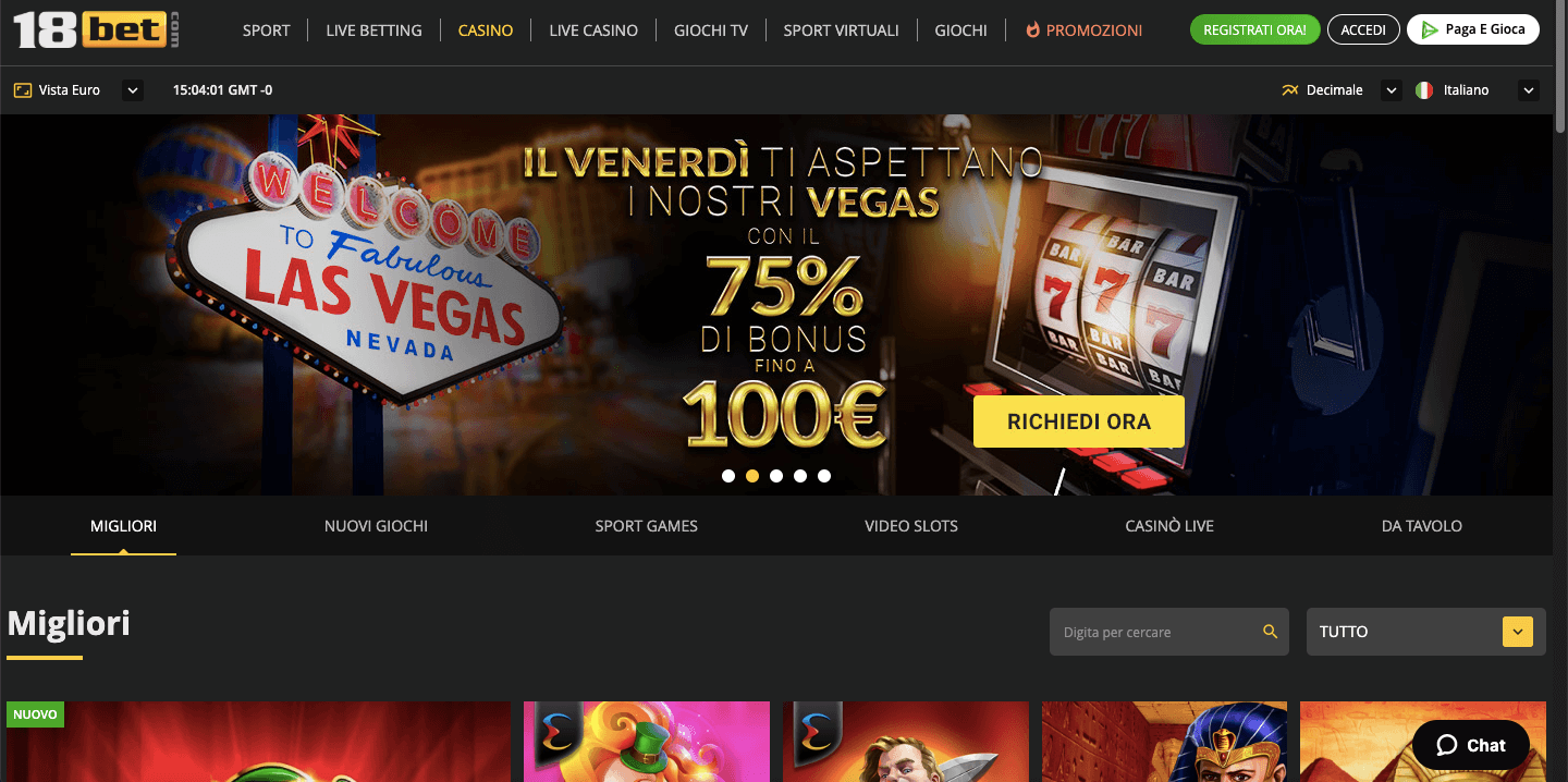 18bet casino home