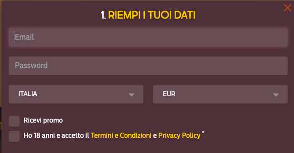 Gunsbet Casinò registrati