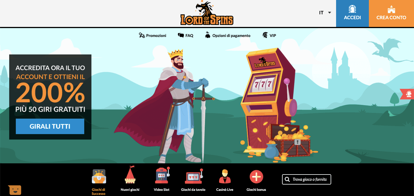 Lordofthespins homepage