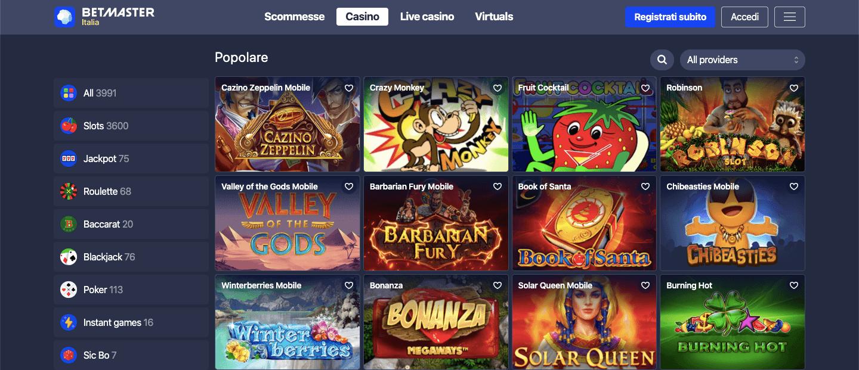 betmaster casino homepage