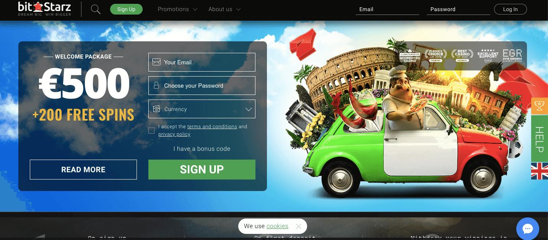 bitstarz homepage