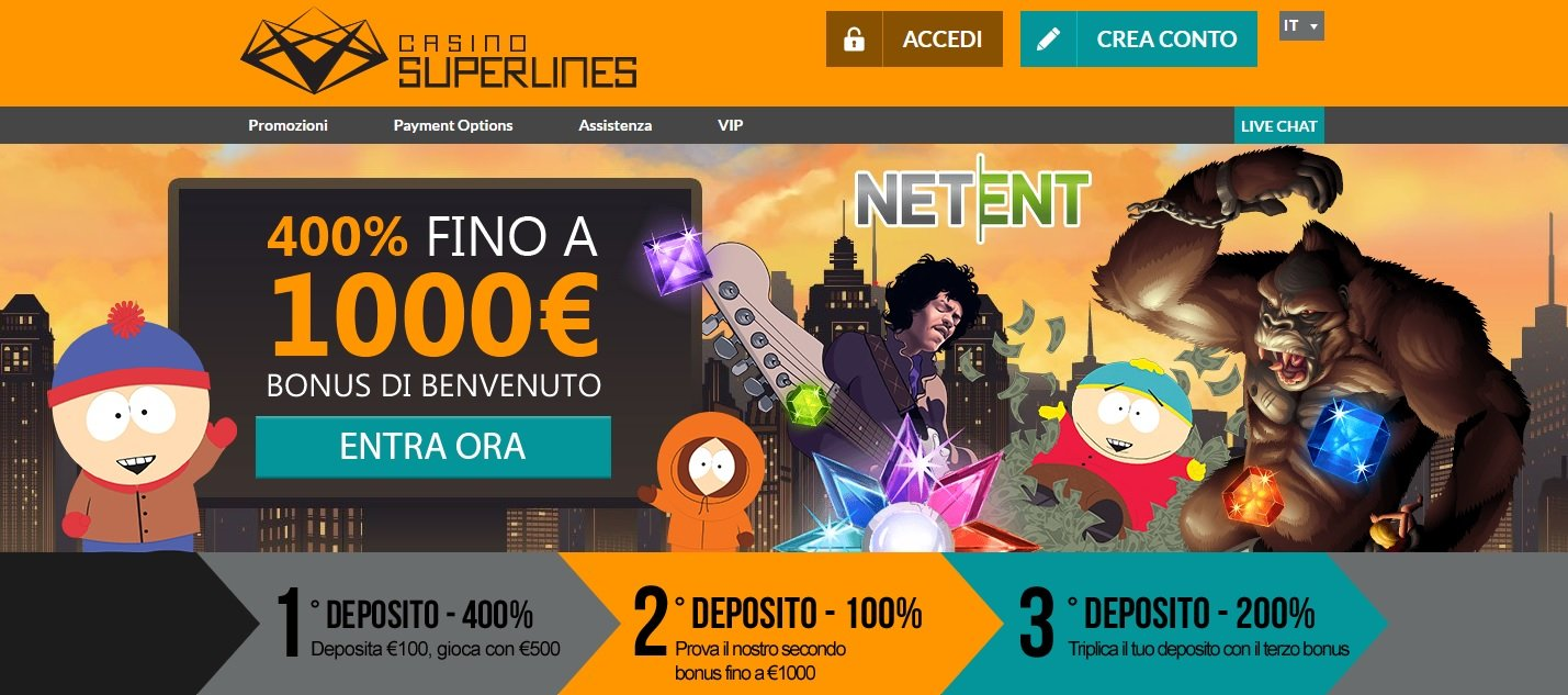 superlines casino homepage