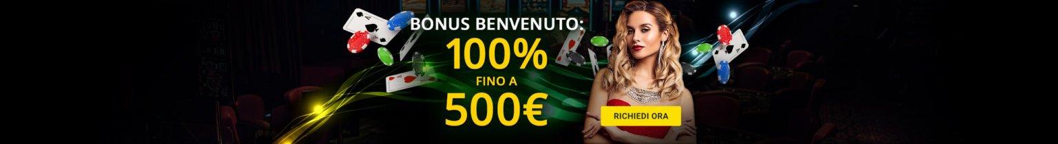 1bet casino bonus benvenuto