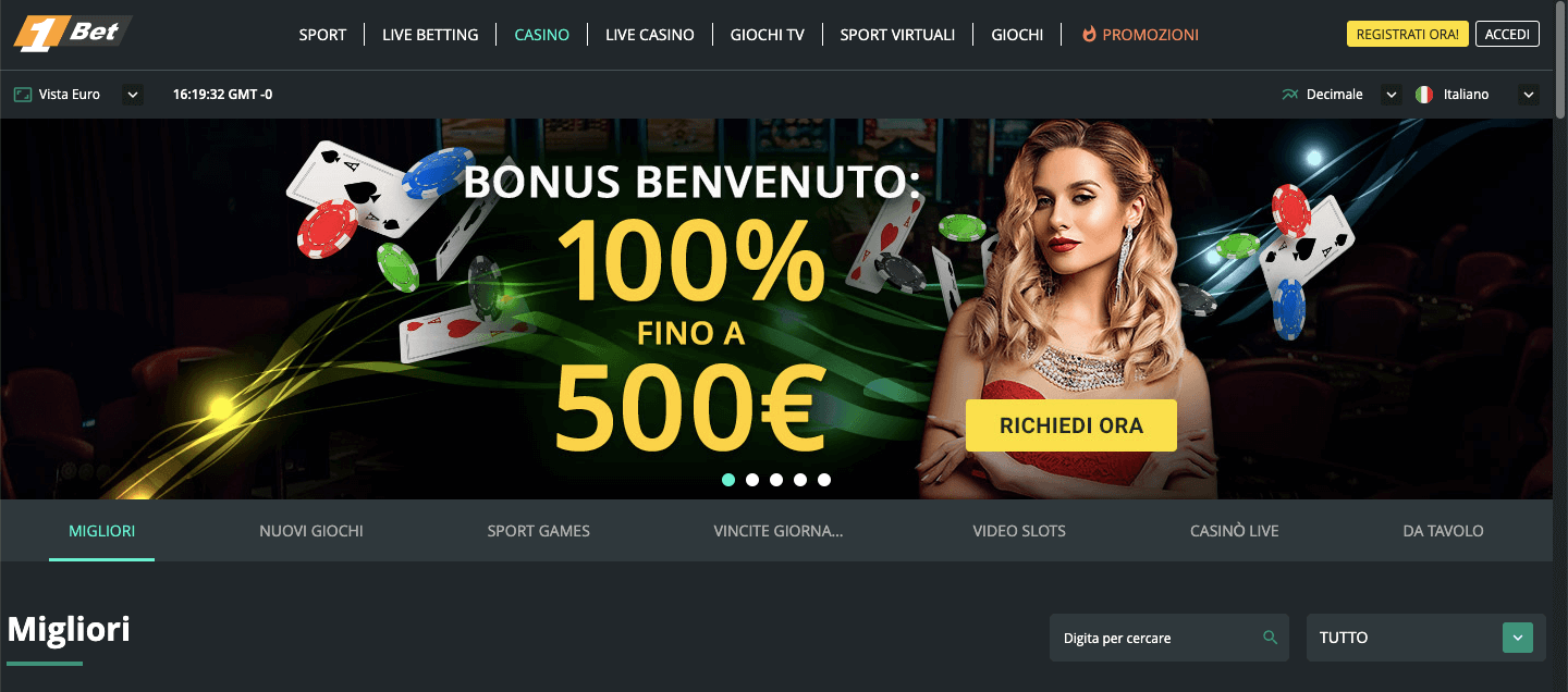 1bet casino home
