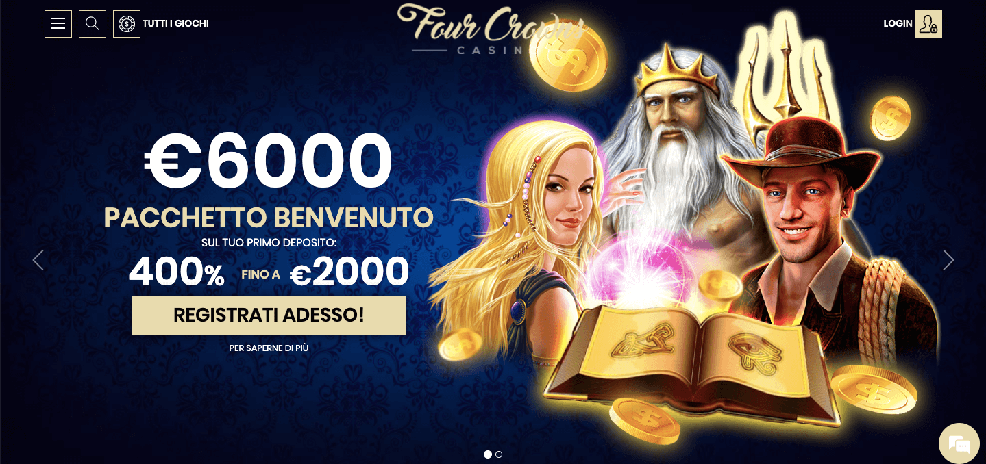 4Crowns casino homepage
