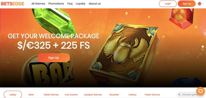 BetsEdge casino homepage