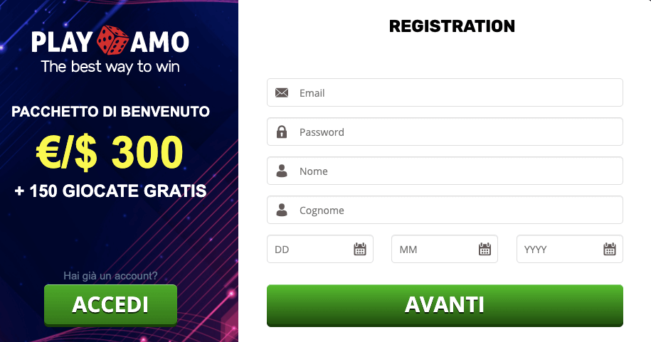 Playamo casino registrati