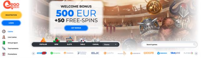 egocasino bonus