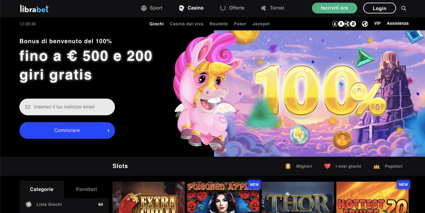 librabet casino homepage