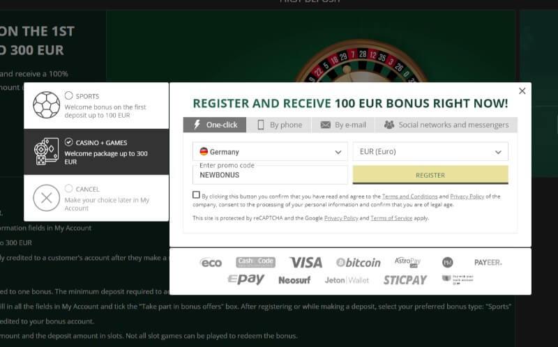 Betwinner register