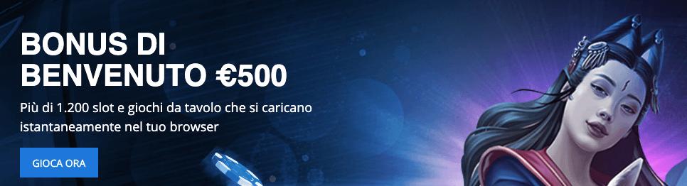 Exclusivebet Casinò welcome bonus