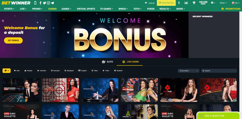 betwinner homepage
