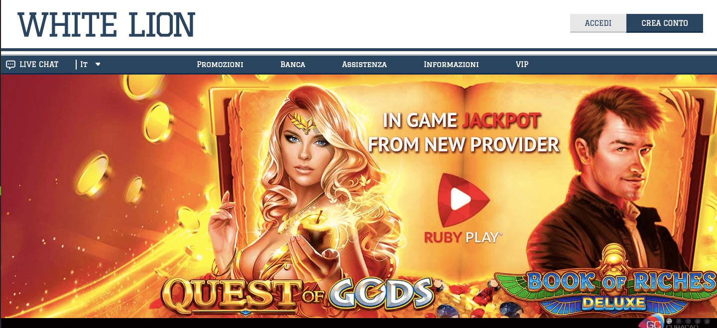 whitelion casino homepage