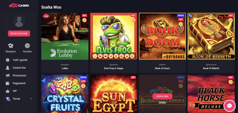 Woo Casino slot