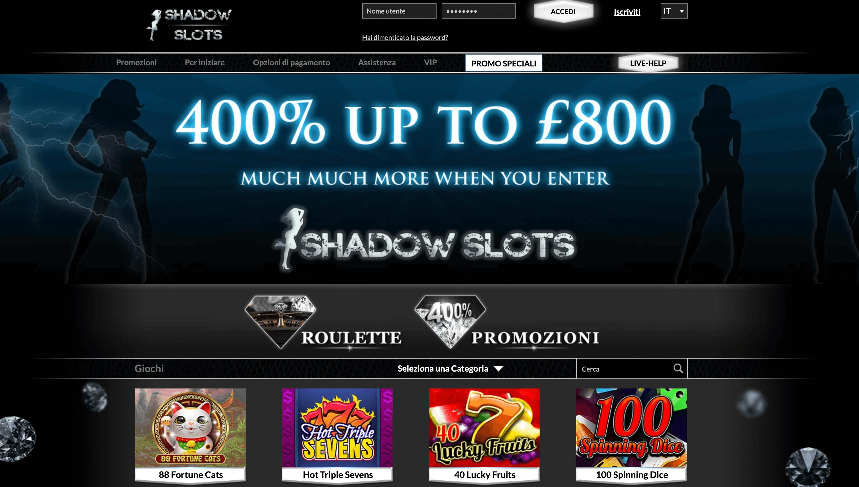 shadow slots homepage