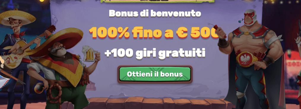 5Gringos Bonus Benvenuto