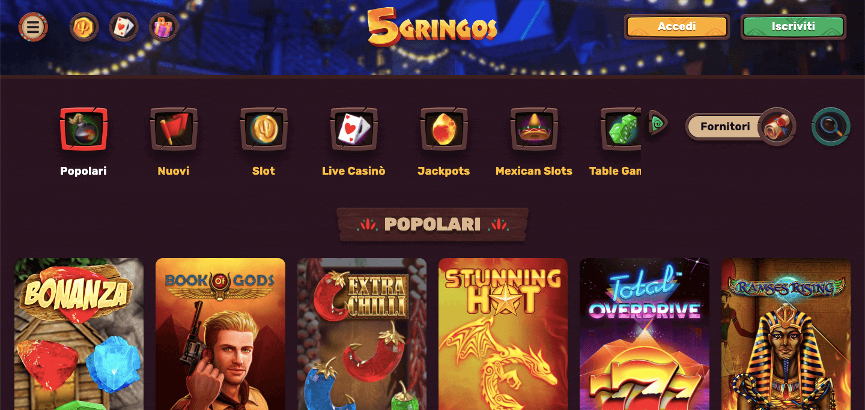 5Gringos Homepage