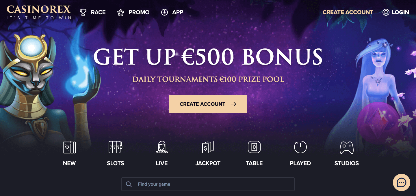 Casino Rex Homepage