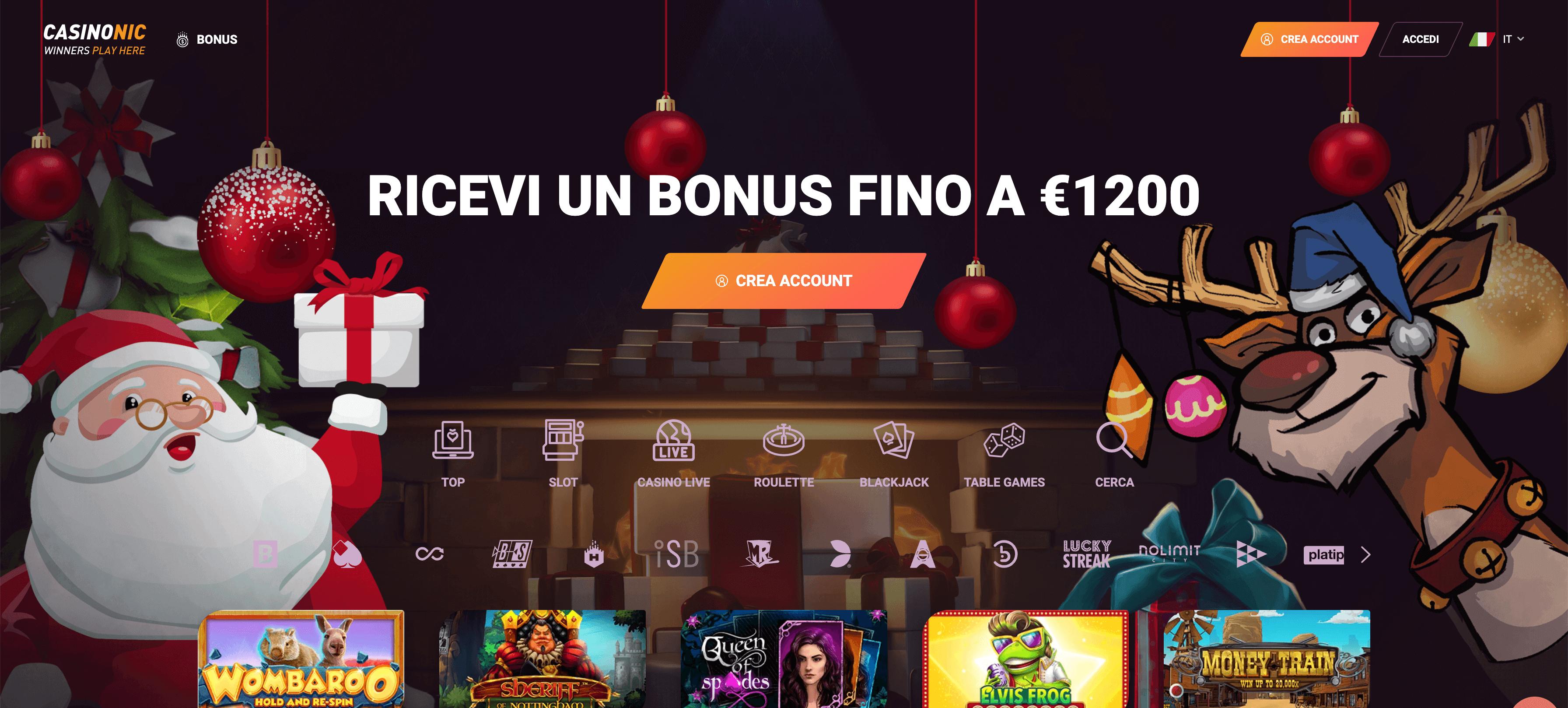 casinonic bonus benvenuto