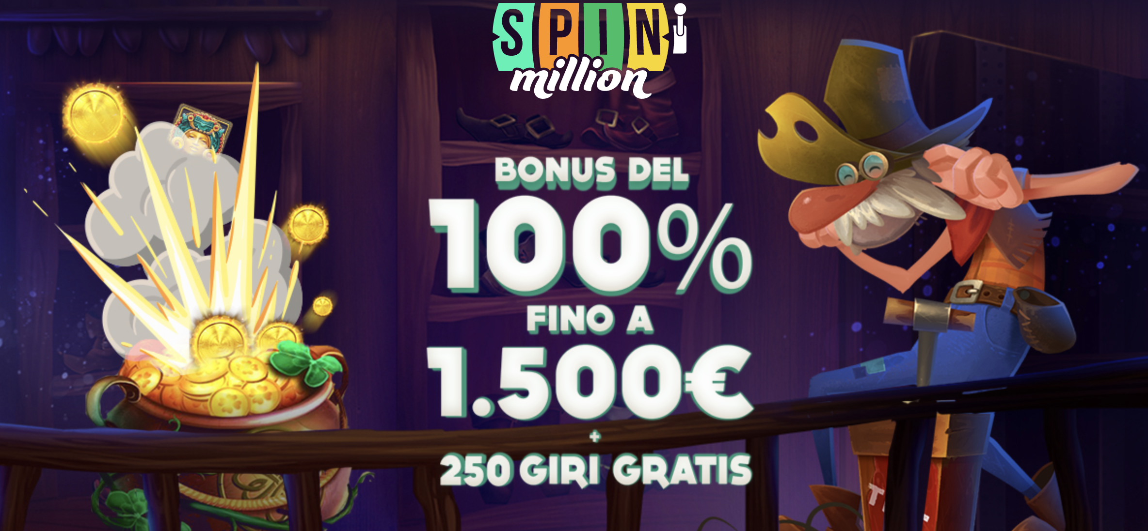 spin million casino bonus-benvenuto
