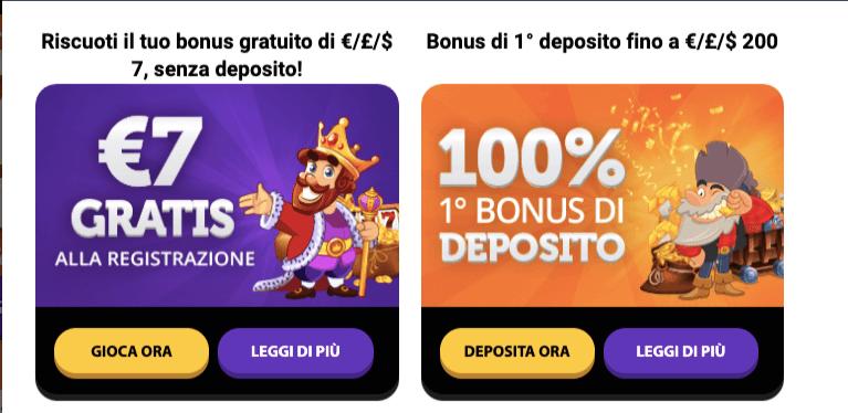 Gratorama Casino Bonus Benvenuto