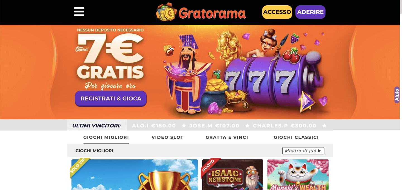 Gratorama Casino Home