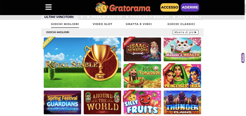 Gratorama Casino Slot