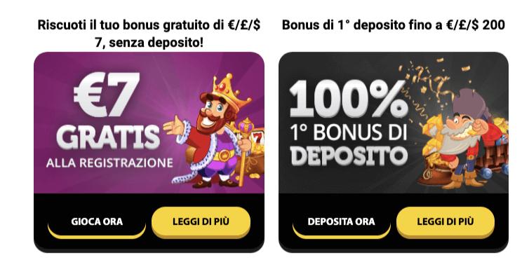 Winorama Casino Bonus Benvenuto