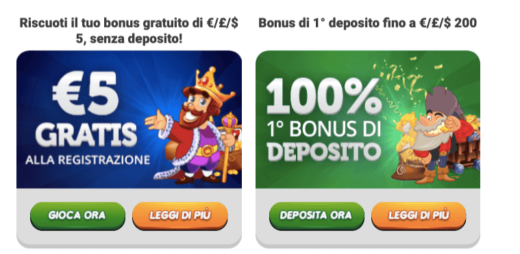 WinsPark Casino Bonus Benvenuto
