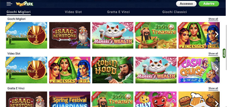 WinsPark Casino Slot