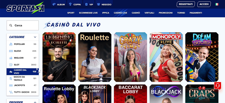 Sportaza Casino Slot Live