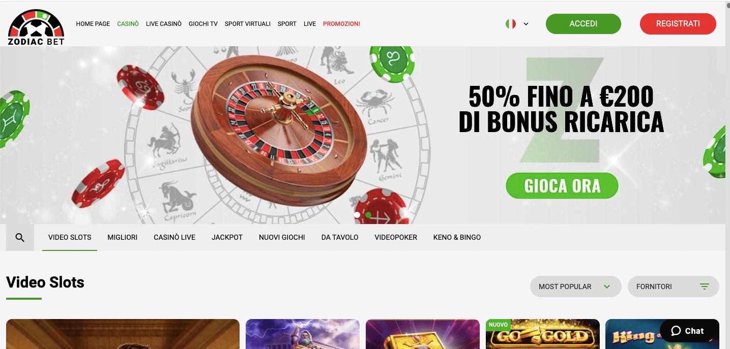 ZodiacBet Casino Home