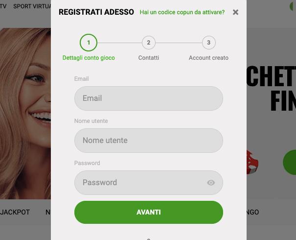 ZodiacBet Casino Registrazione
