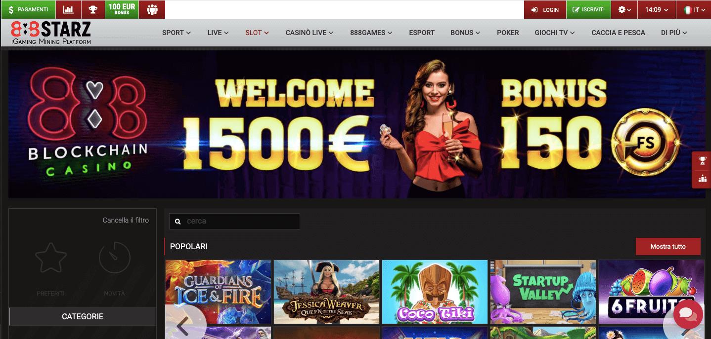 888starz Casino Home