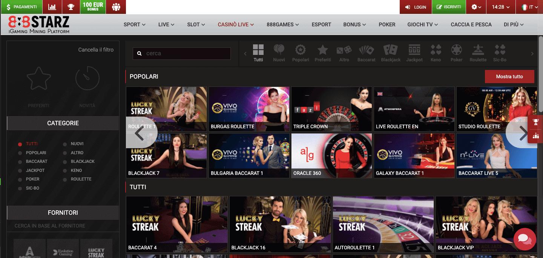888starz Casino Slot Live