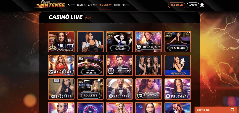 Casino Intense Slot Live
