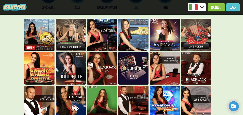 Crazyno Casino Slot Live