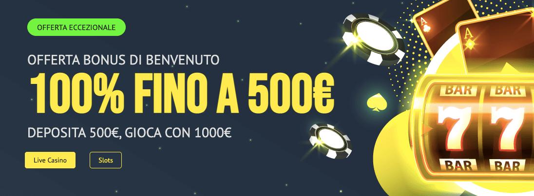 Yonibet Casino Bonus Benvenuto