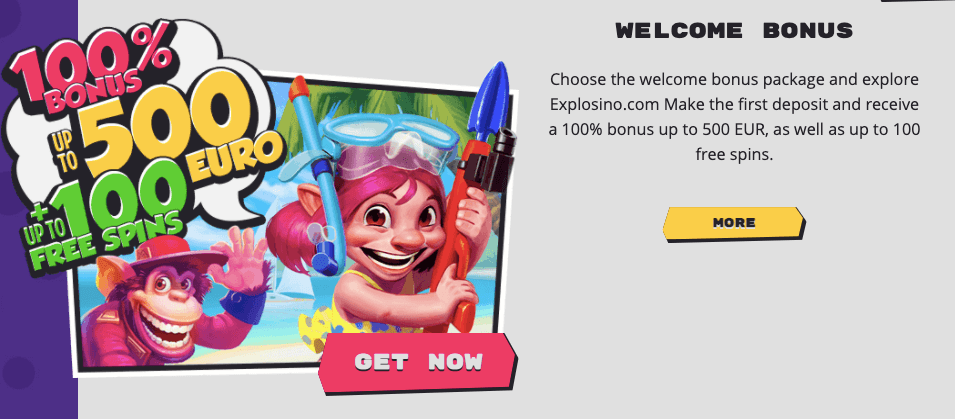 Explosino Casino Bonus Benvenuto