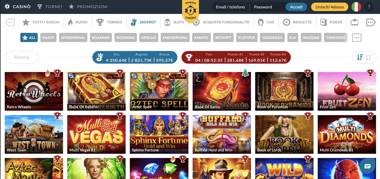 Power Casino Jackpot casino live