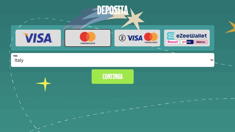 Crazyno Casino primo deposito