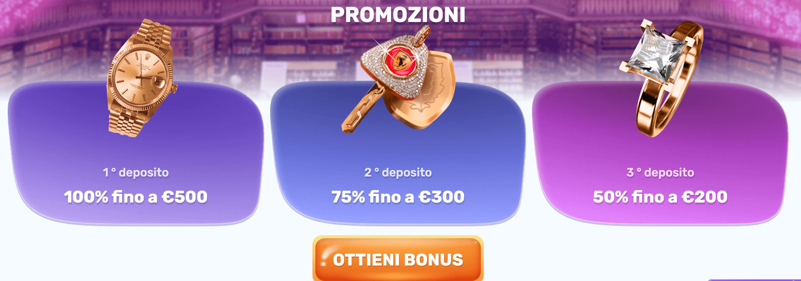 Slots Palace Bonus Benvenuto