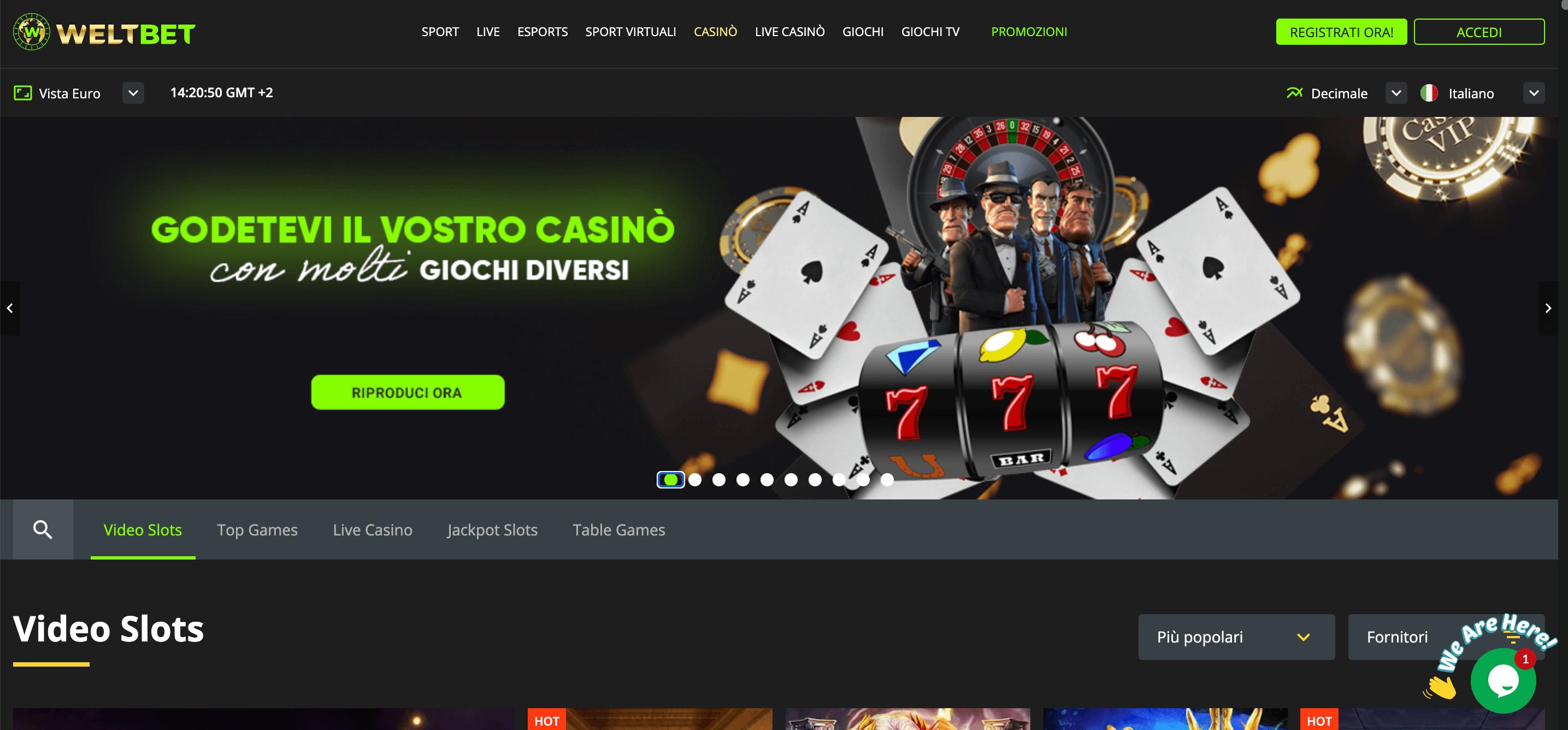 Weltbet Casino Home