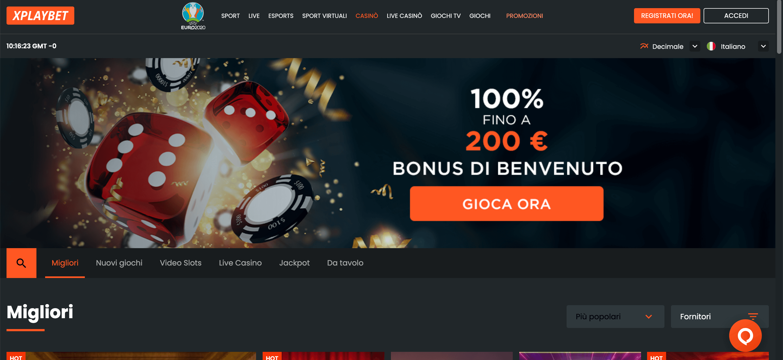 XPlayBet Casino Home