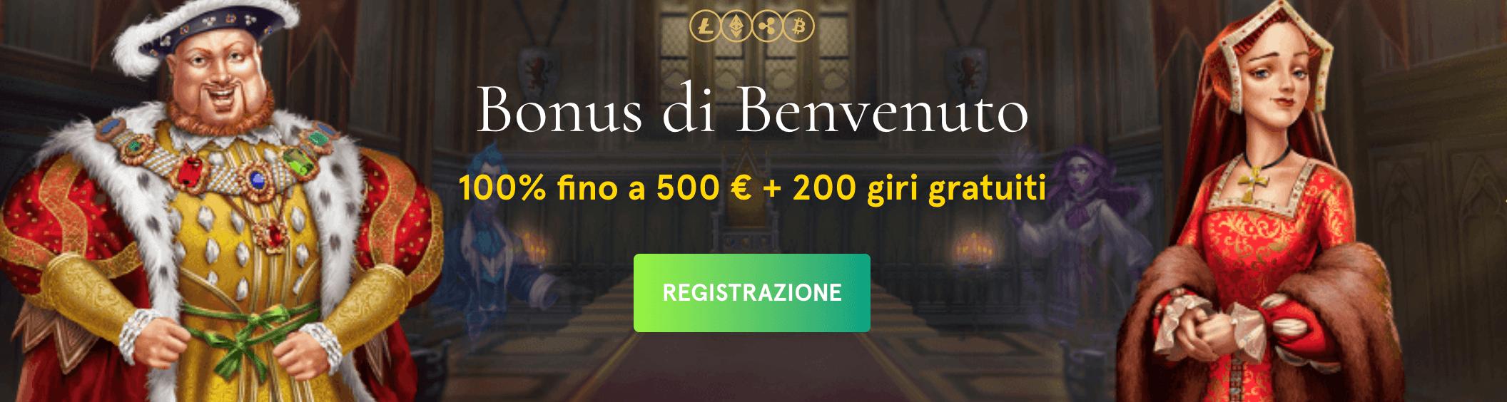 Casinia Casino Bonus Benvenuto