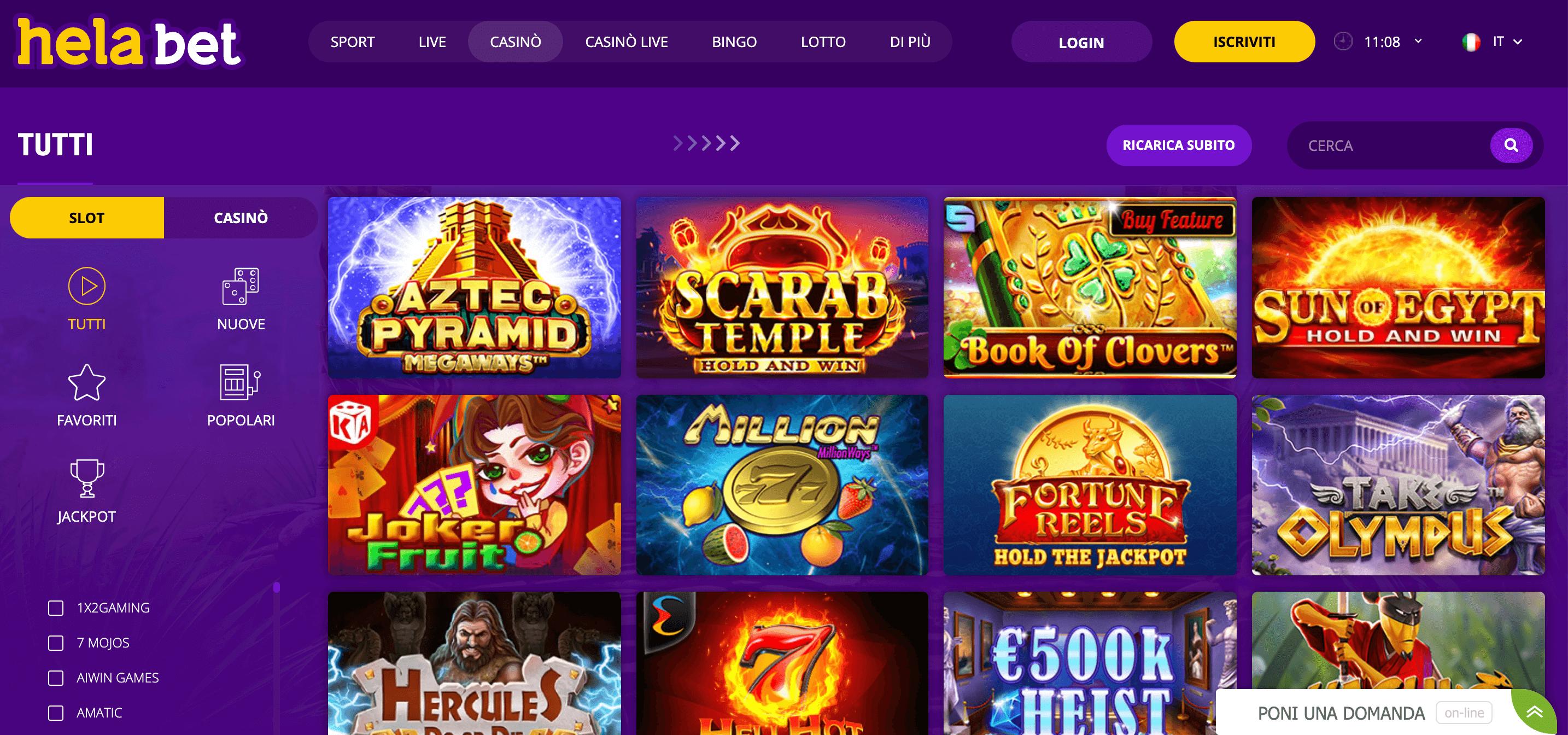 Hela Bet Casino Home