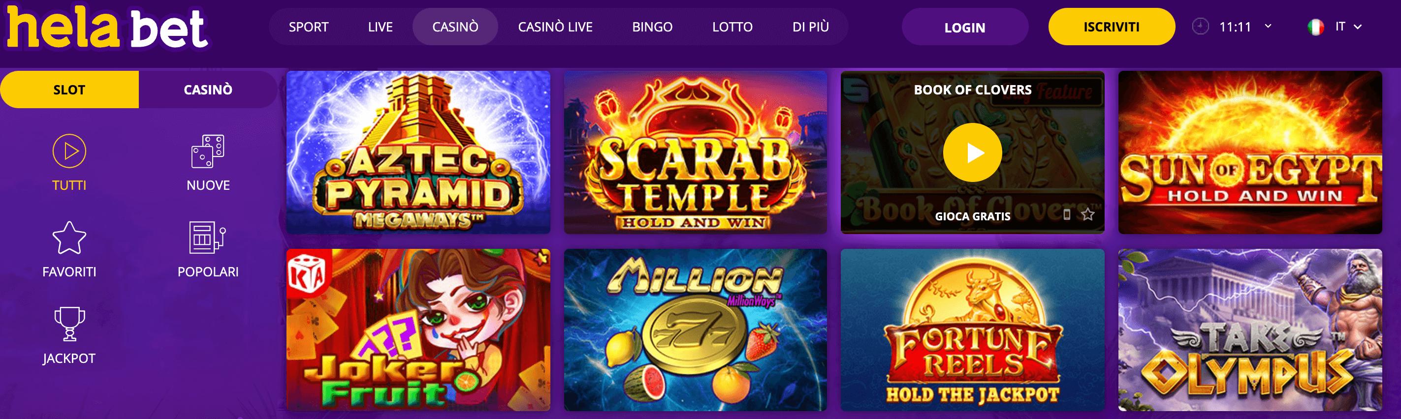 Hela Bet Casino Slot