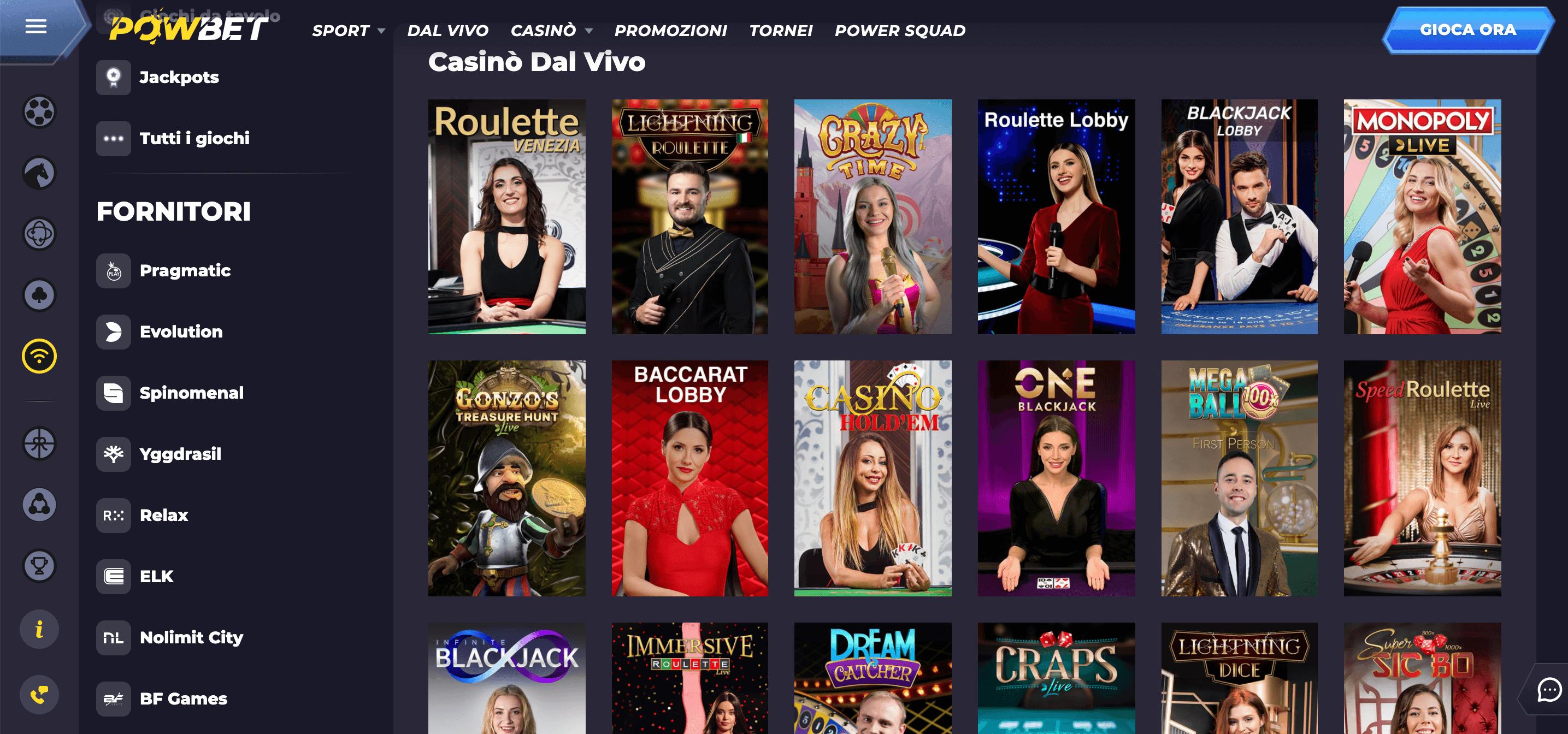 Powbet Casino Slot Live